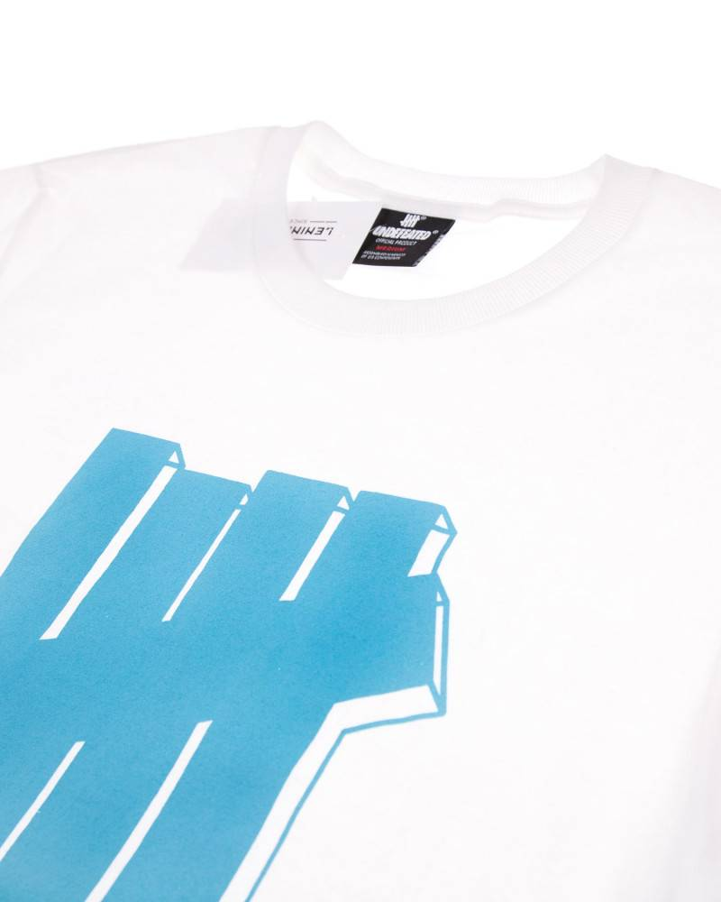 Футболка Undefeated Blue Logo White Tee