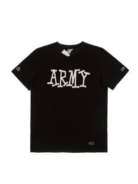 Футболка Champion X Stussy Army Black Tee