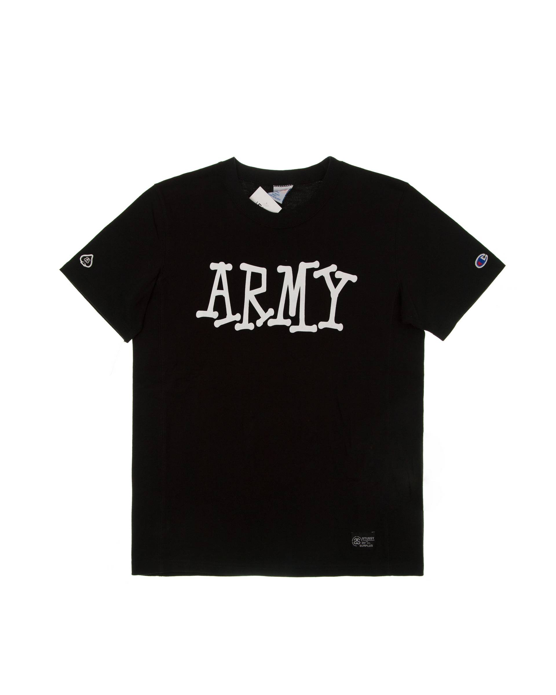 Футболка Champion X Stussy Army Black Tee