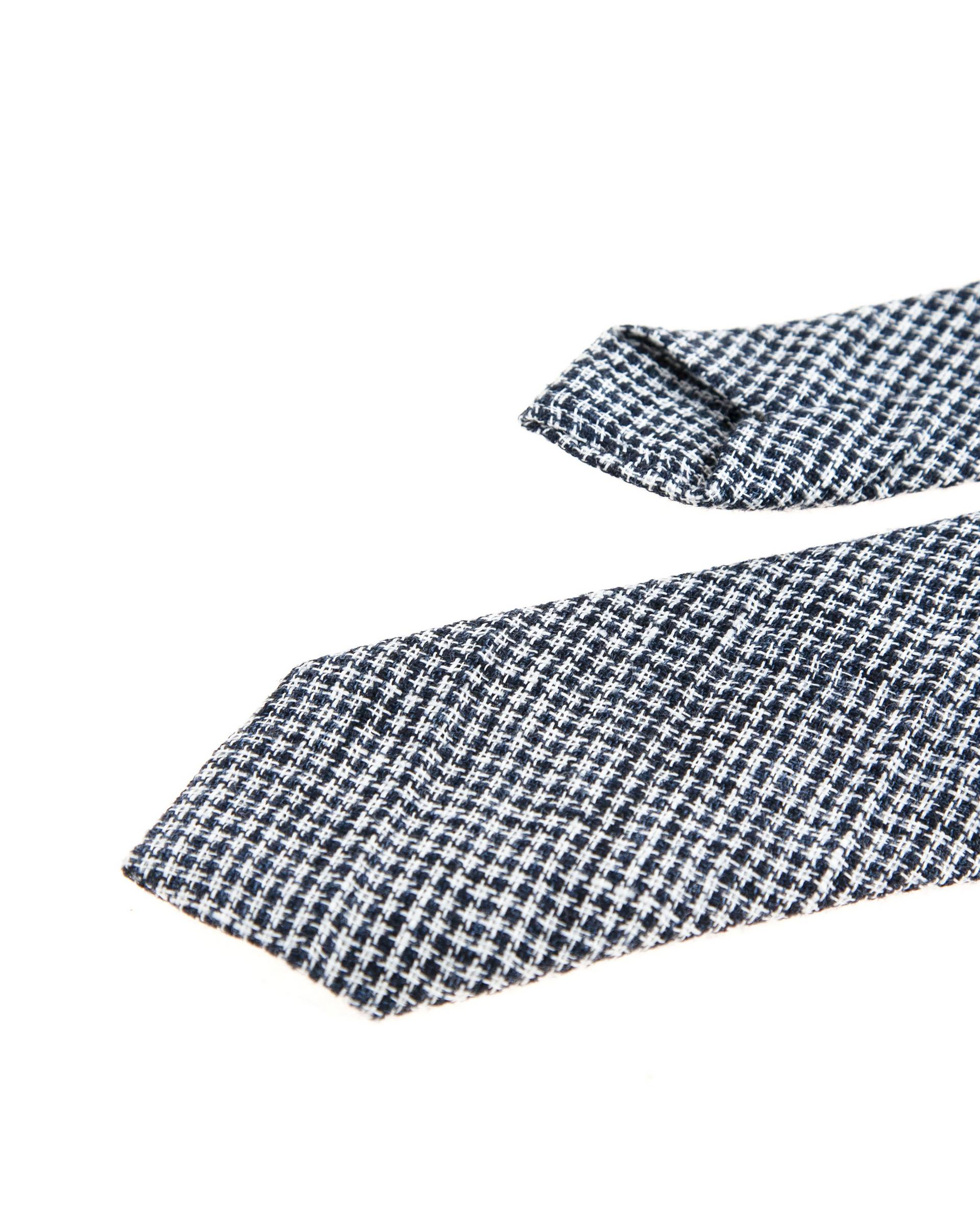 Галстук Human Scales Black\White Plaid Tie