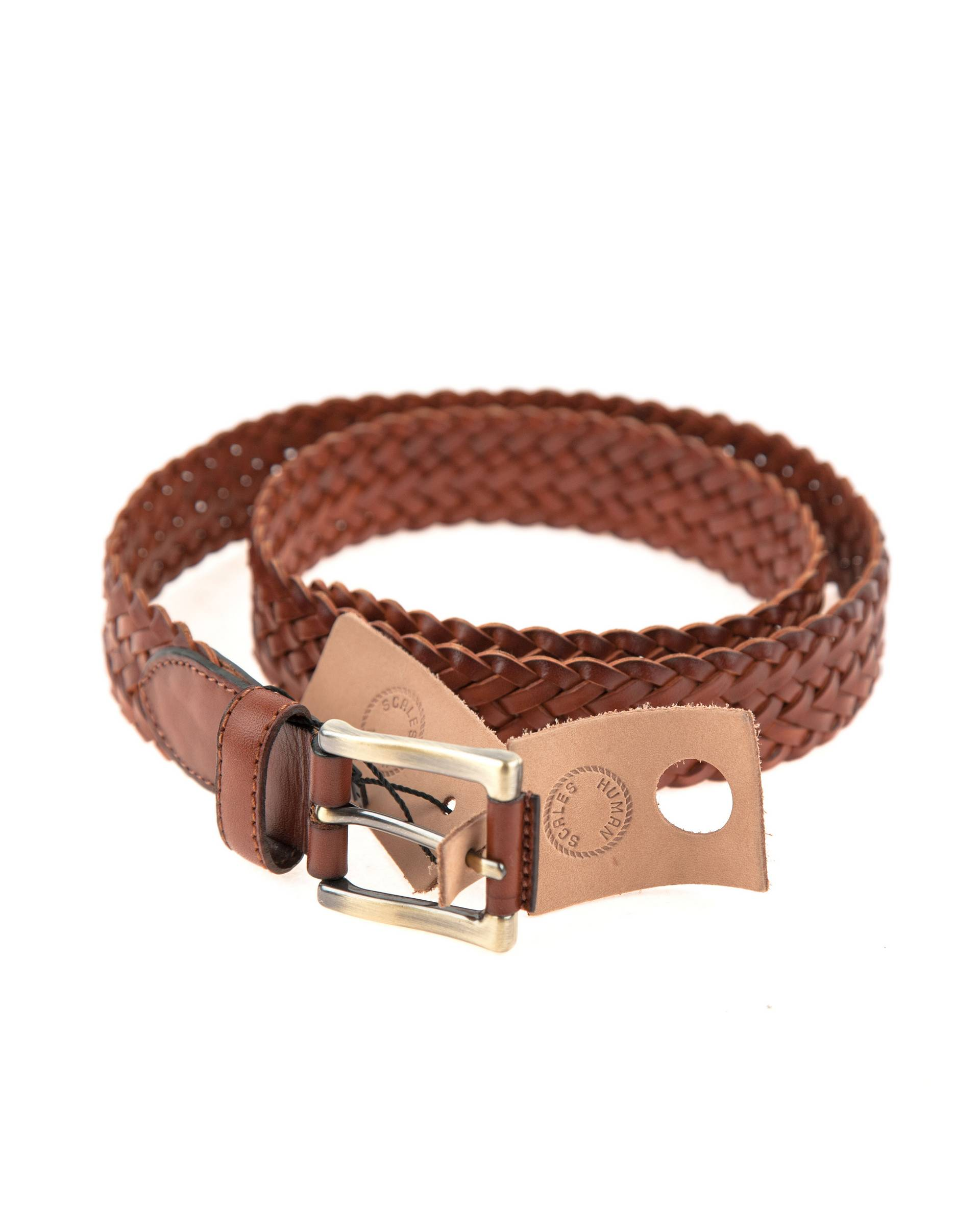 Ремень Human Scales Light Brown Leather Belt
