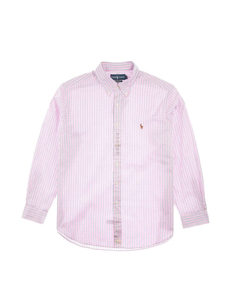 Рубашка Ralph Lauren Small Pony Pink Gindam Shirt
