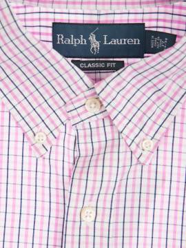 Рубашка Ralph Lauren Small Pony Pink Gindam Shirt