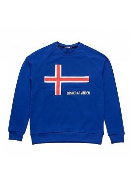 "Свитшот Sønner Af-Vinden ""Iceland"" Cross Is Royal Blue"