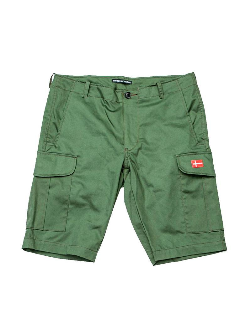 Шорты Sonner Af Vinden Green Cargo Shorts.