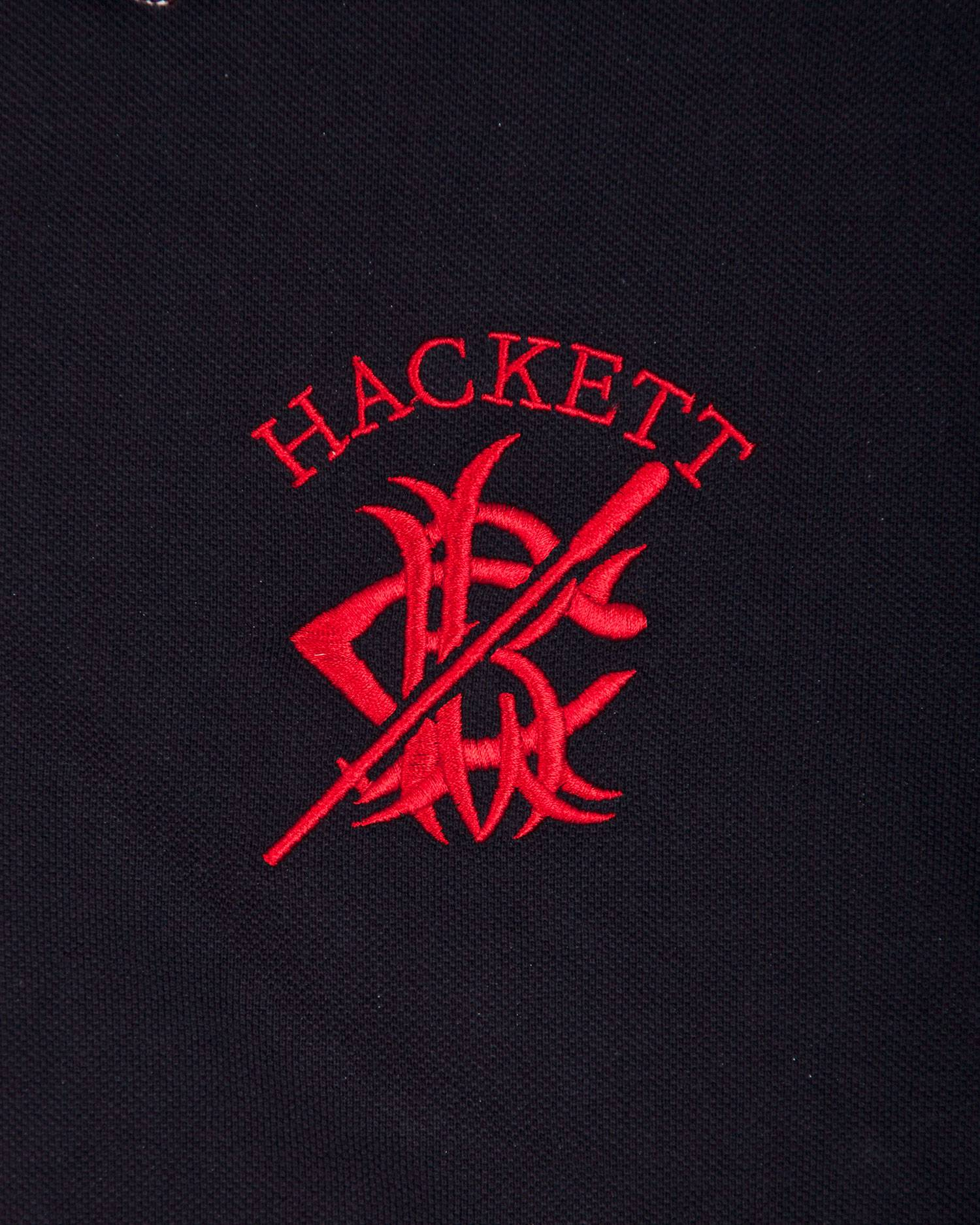Футболка-поло Hackett Black/Bordo