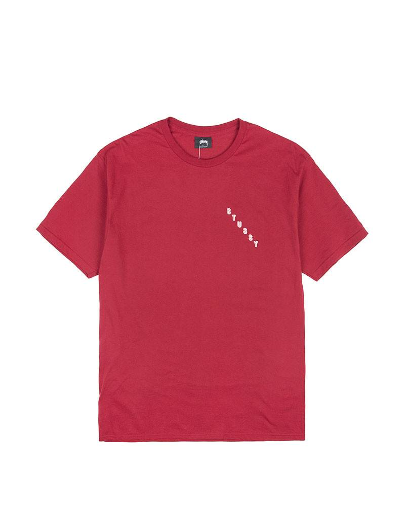 Футболка Stussy Line Logo Red Tee.