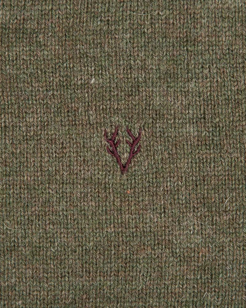 Свитер Vedoniere V-neck Wool Olive Sweat.