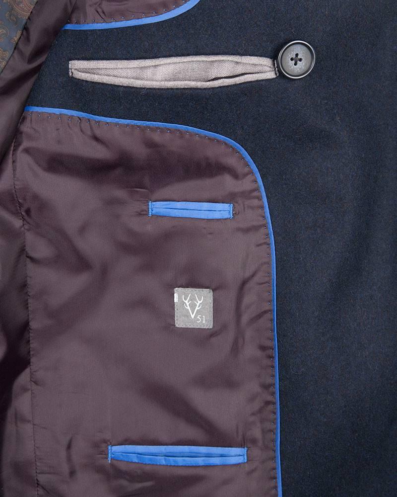 Тренч Vedoniere Navy Trench Coat.