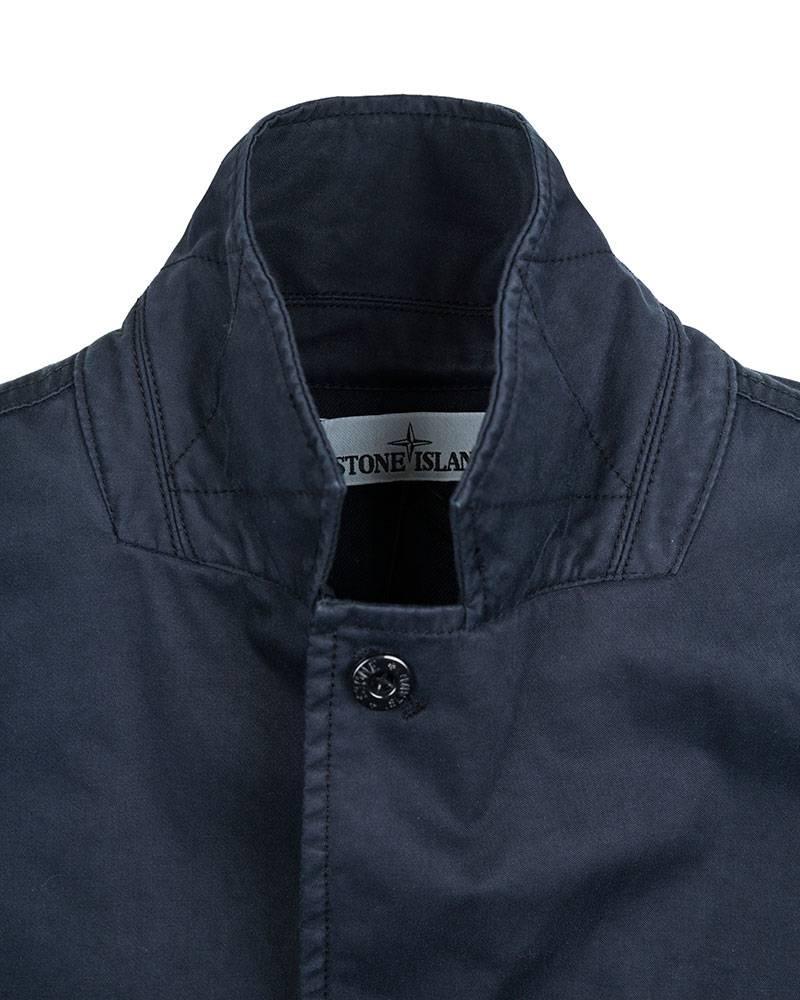 Куртка Stone Island Navy Raso Gommato Coat.