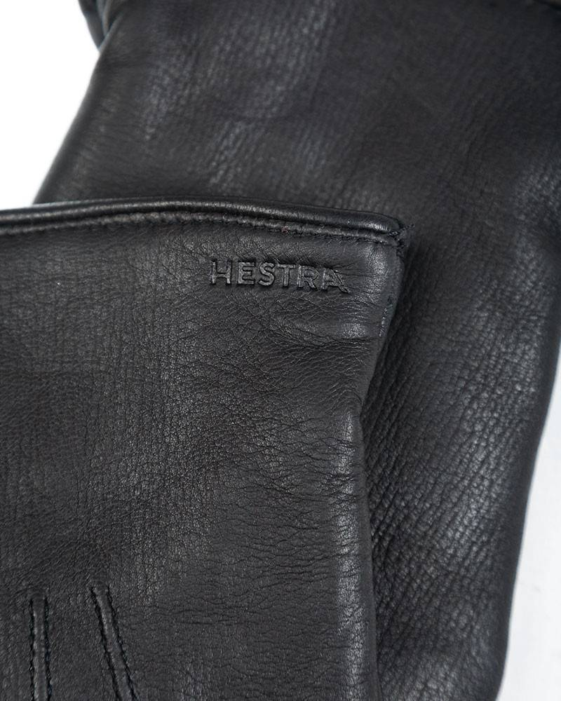 Перчатки Hestra Norman Black Leather Gloves.