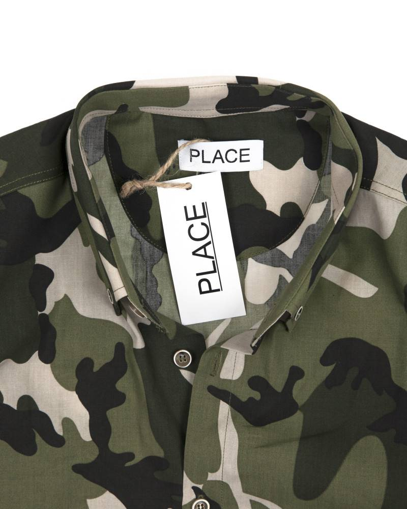 Рубашка Place Camo Cotton Shirt.