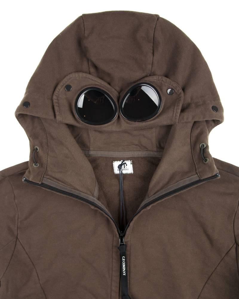 Худи C.P. Company Heavy Jersey Goggle Hoody Olive