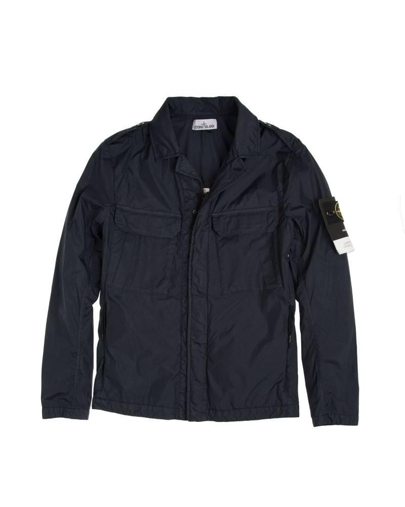 Ветровка Stone Island Cotton Black Pocket Overshirt.