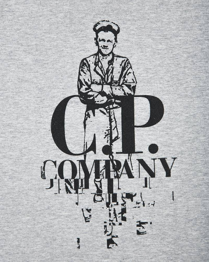 Футболка C.P.Company Sailor Logo Grey Tee