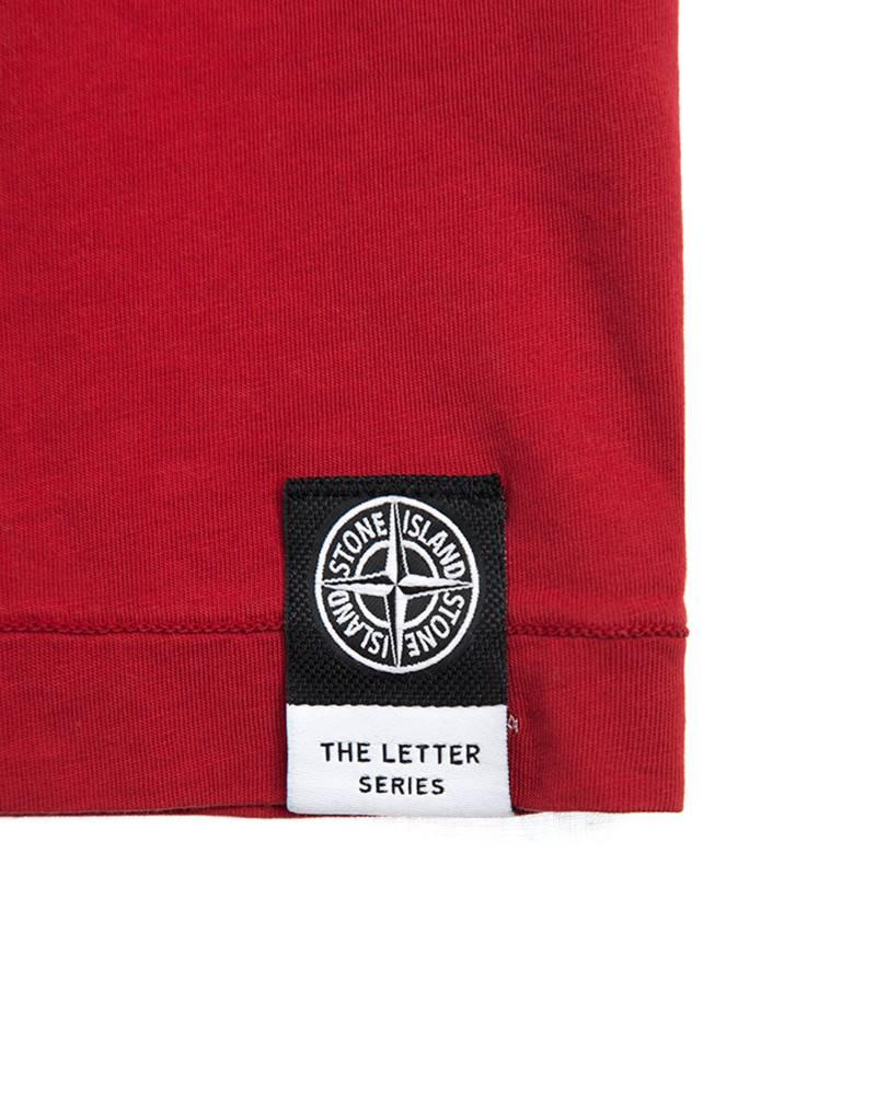 Футболка Stone Island Red Tee Reflective Logo