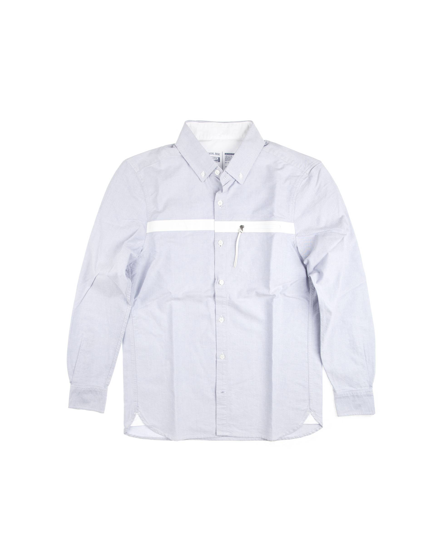 Рубашка St.Roller Original голубая, белая полоса