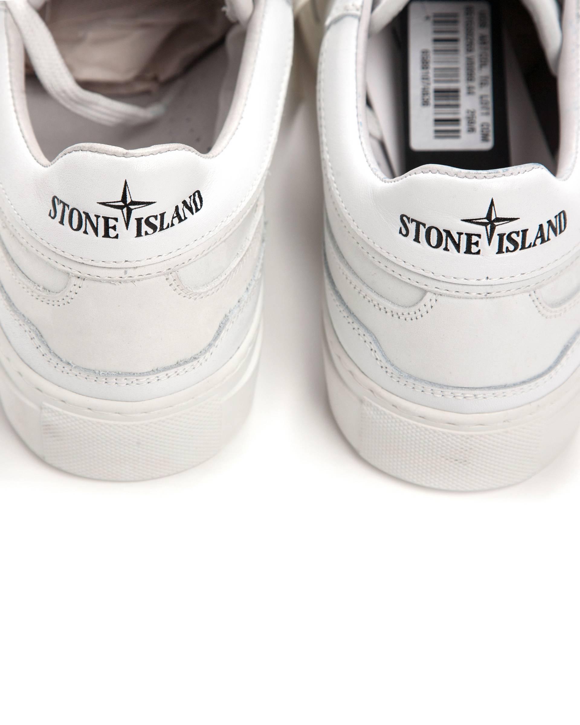 Кеды Stone Island x Diemme Белые кожаные