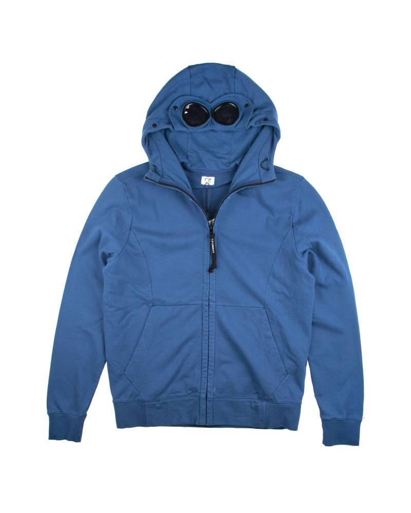 Худи C.P. Company Heavy Jersey Goggle Hoody Blue