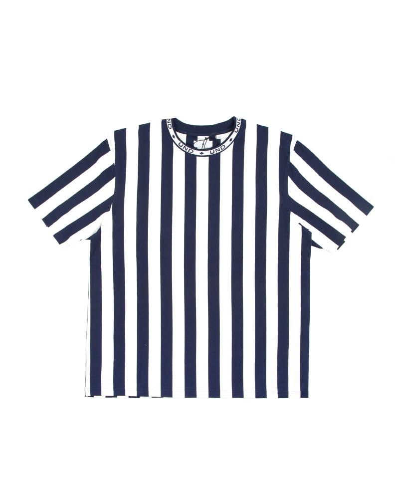 Футболка Undefeated Roller Stripe Crew Navy