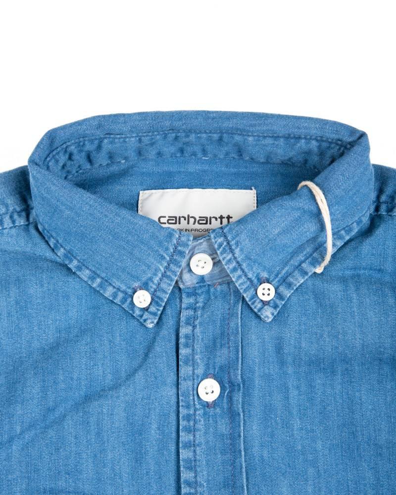 Рубашка Carhartt L/S Civil Blue Stonewashed