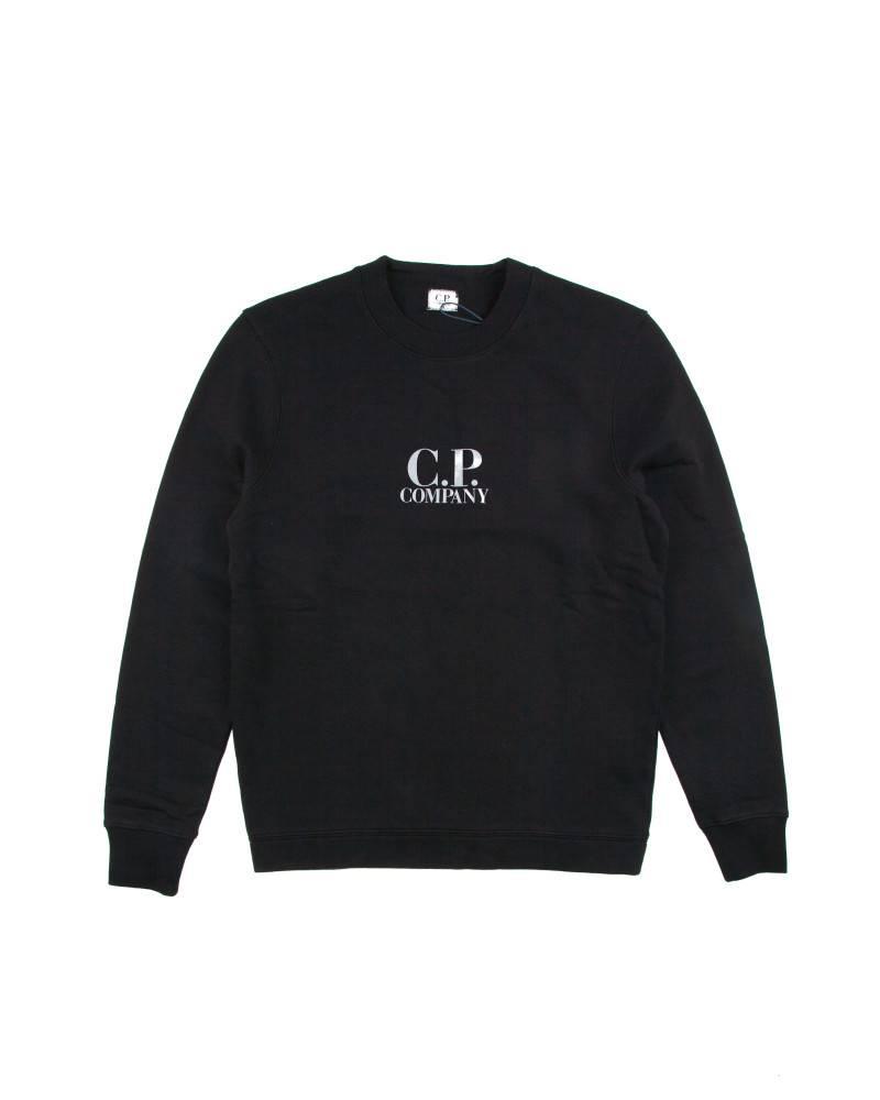 Толстовка C.P.Company  Diagonal Fleece Logo Crew Neck Total Eclipse