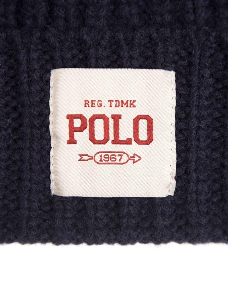 Шапка Ralph Lauren Ribbed Merino Wool Hat Navy