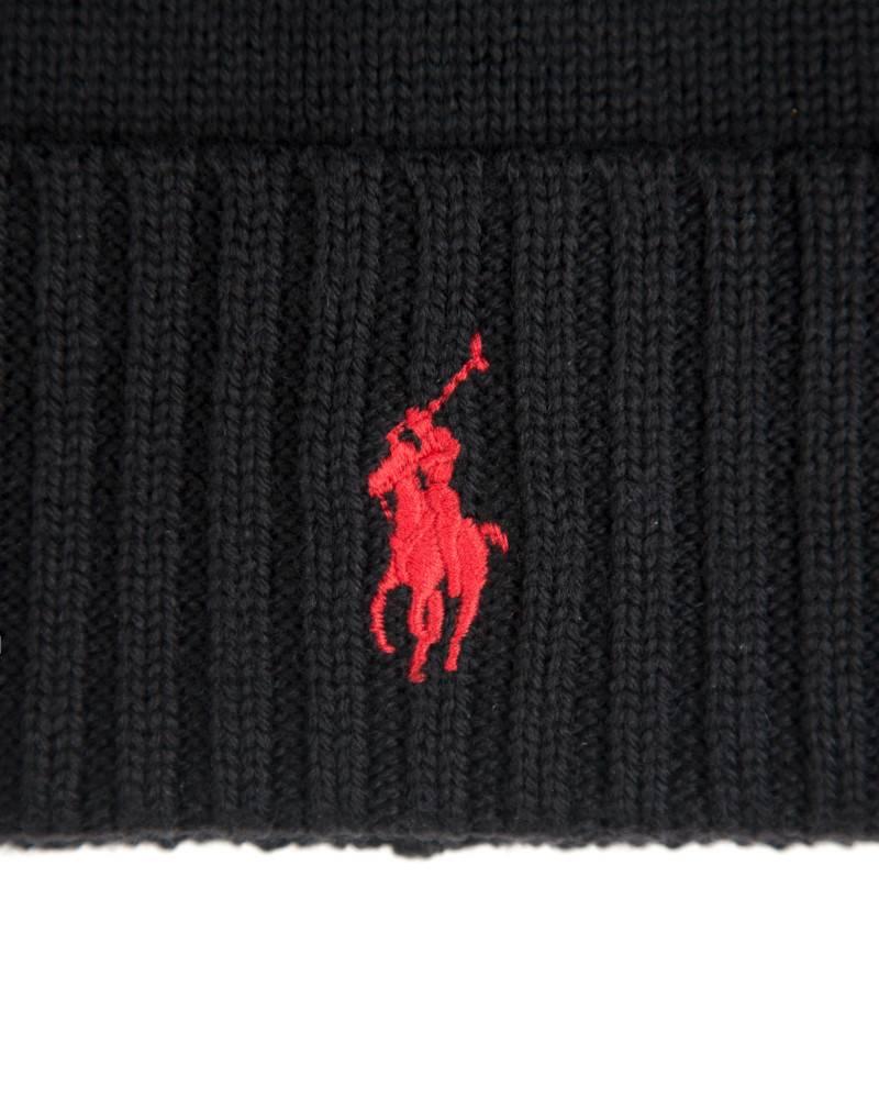 Шапка Ralph Lauren Wool Watch Hat Black