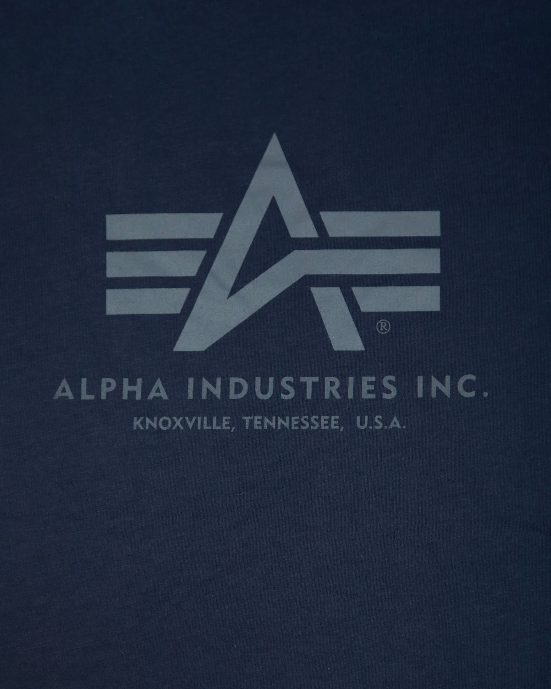 Футболка Alpha Industries Blue Logo