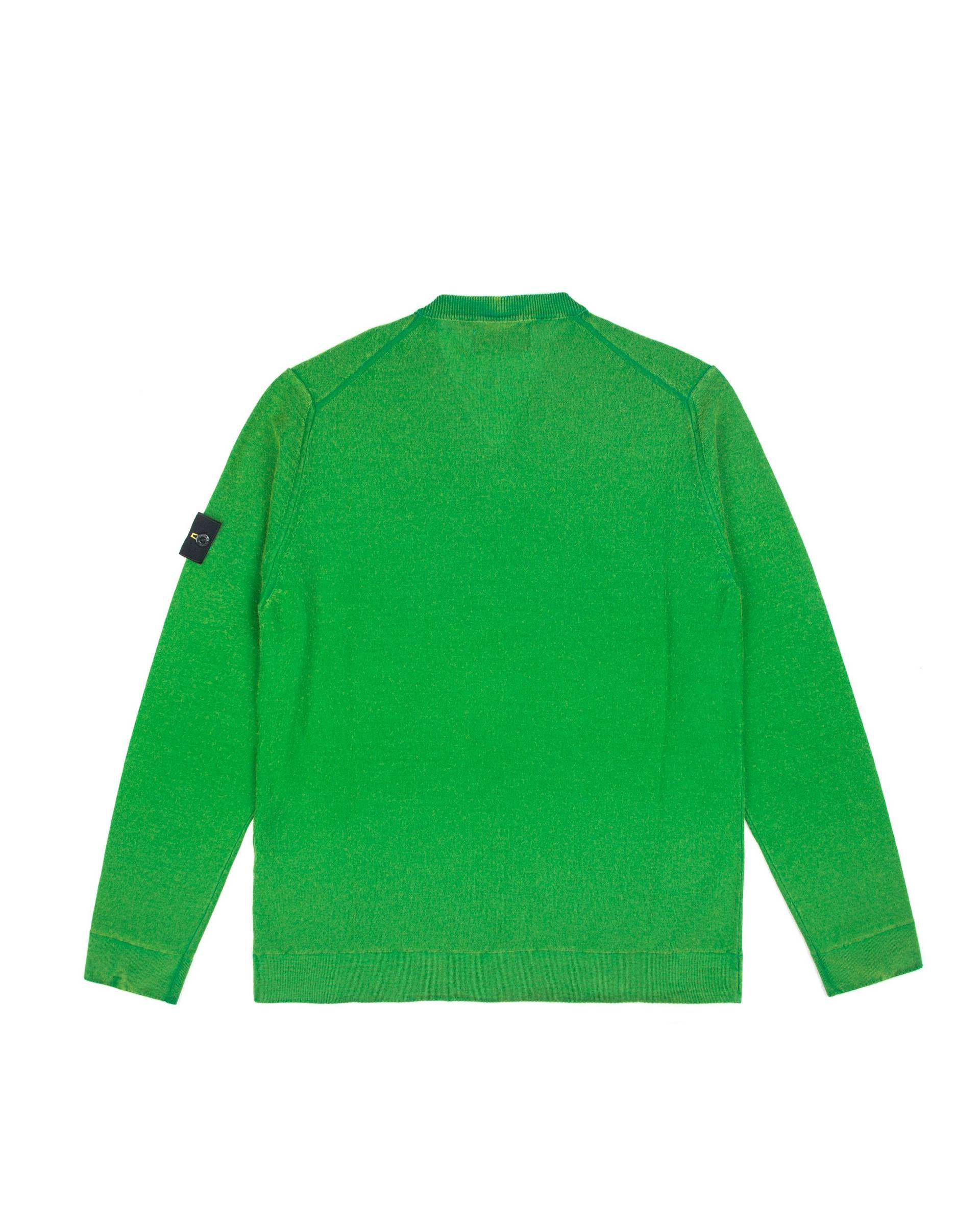Свитер Stone Island V-neck Green Sweat