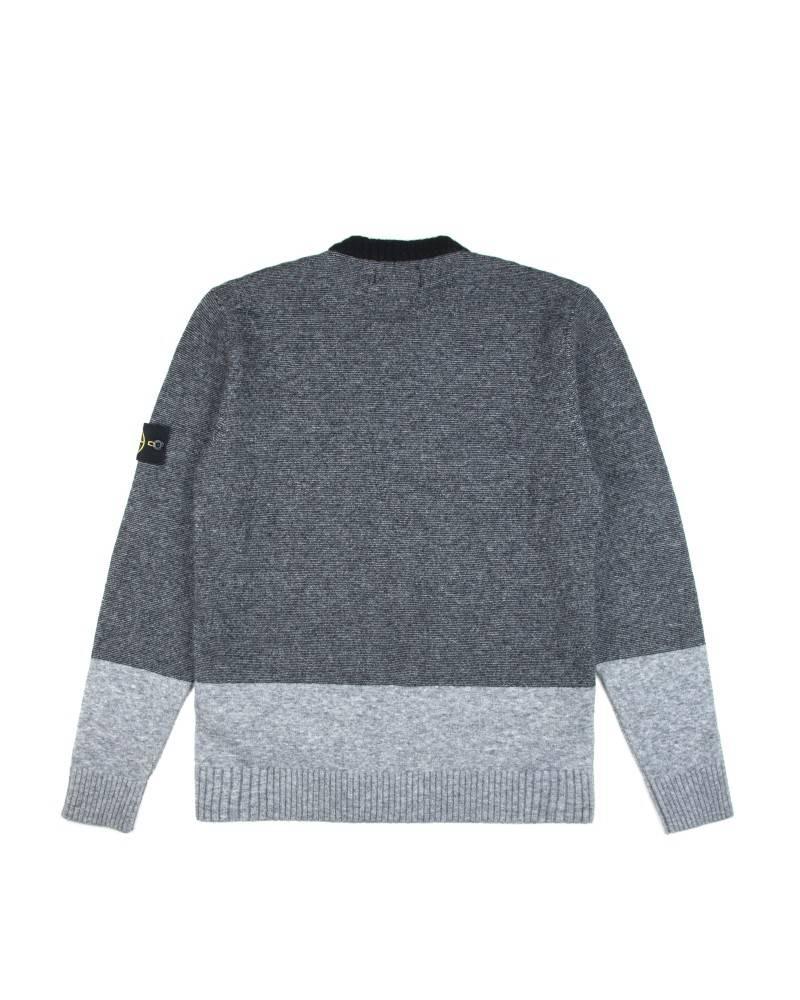 Свитер Stone Island Triple Colours Light Grey-Black-Grey Wool Sweat