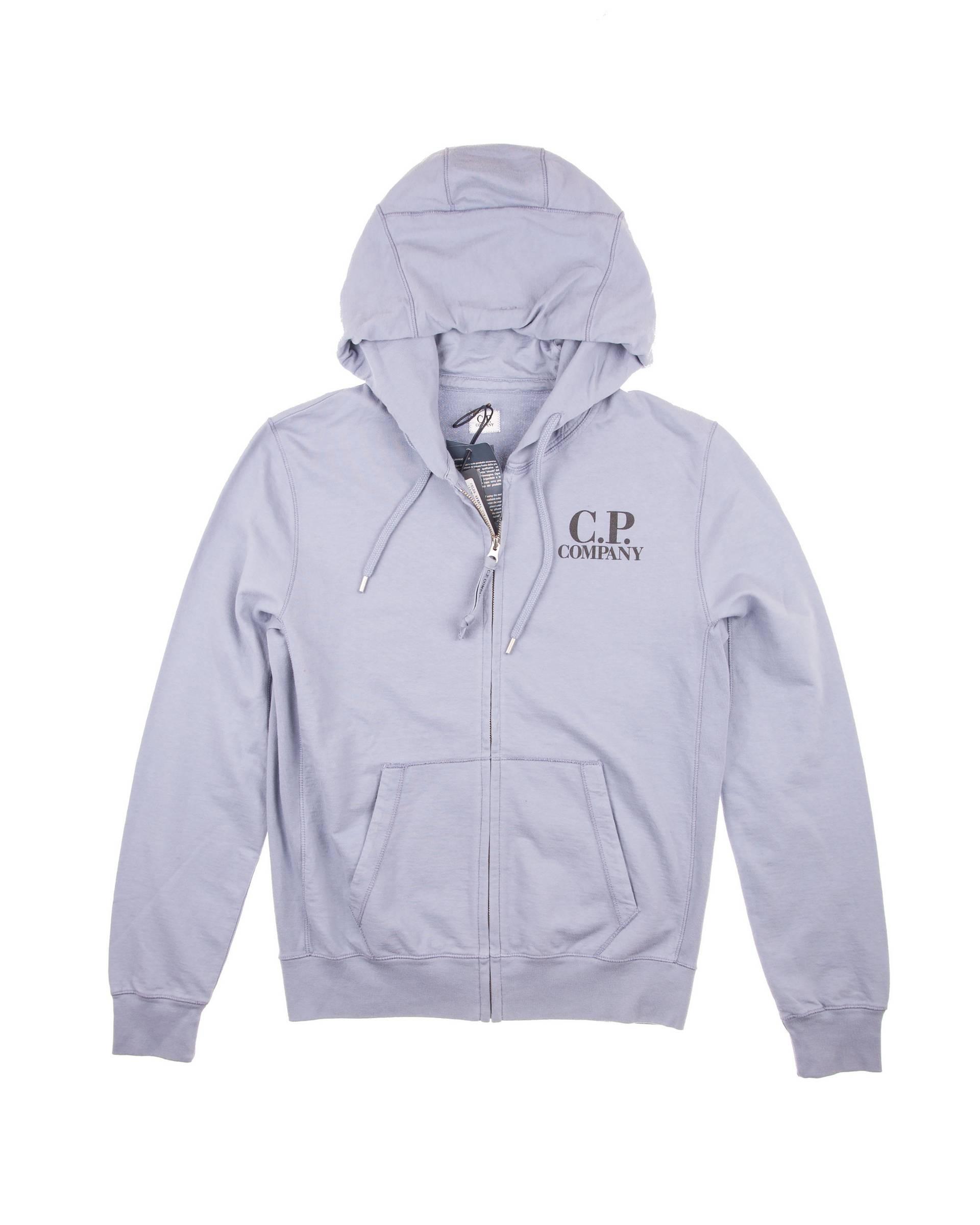 Толстовка C.P.Company Grey/Blue Zip Hoodie