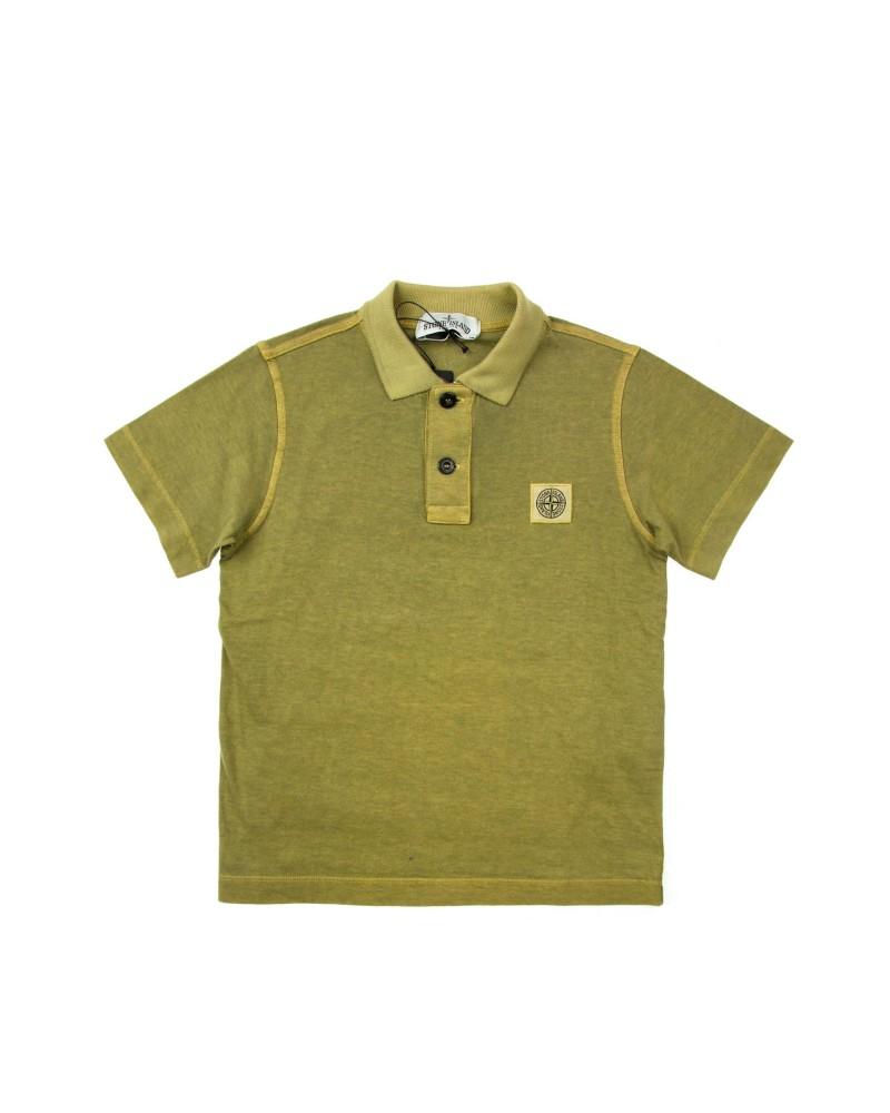 Поло детское Stone Island Undersixteen Yellow/Green Polo