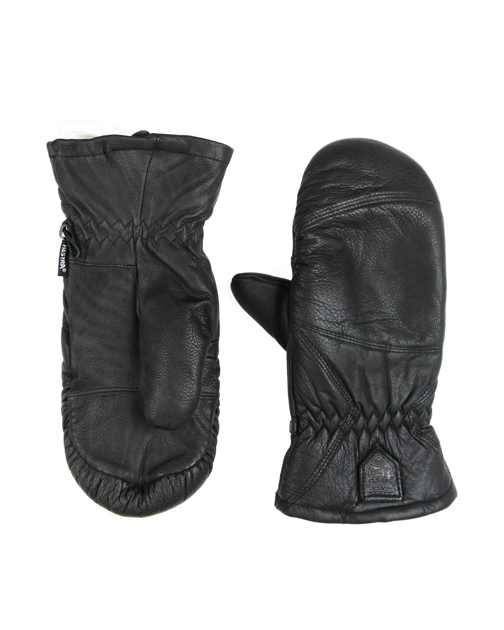 Варежки Hestra 3537 Black Leather Mitten