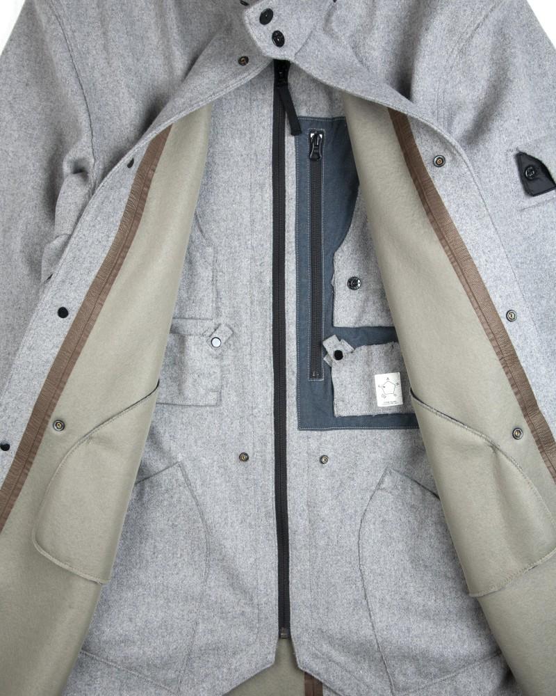 Куртка Stone Island Shadow Stealth Wool Coat in Grey