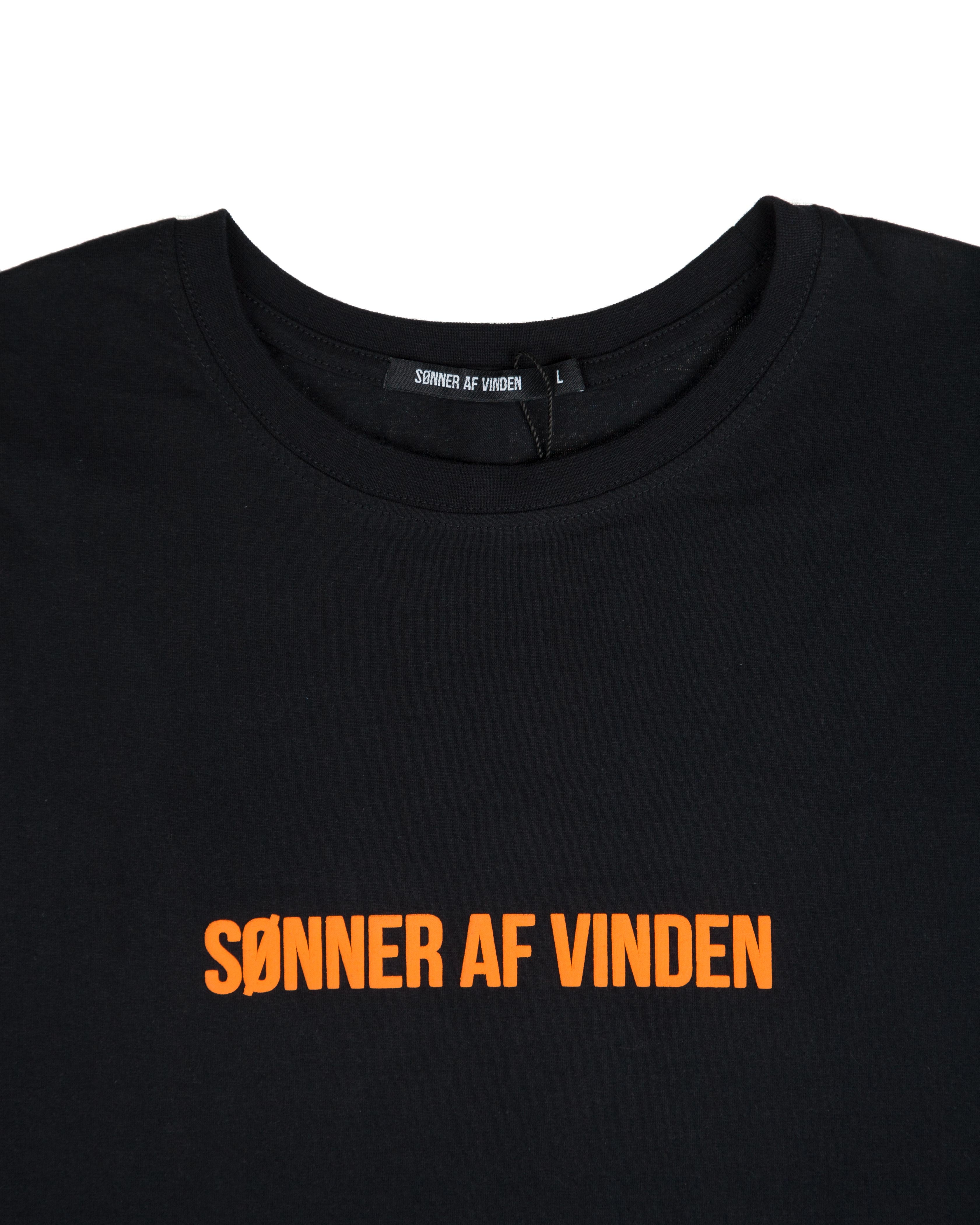 Футболка Sønner Af-Vinden Black With Orange Camo Print