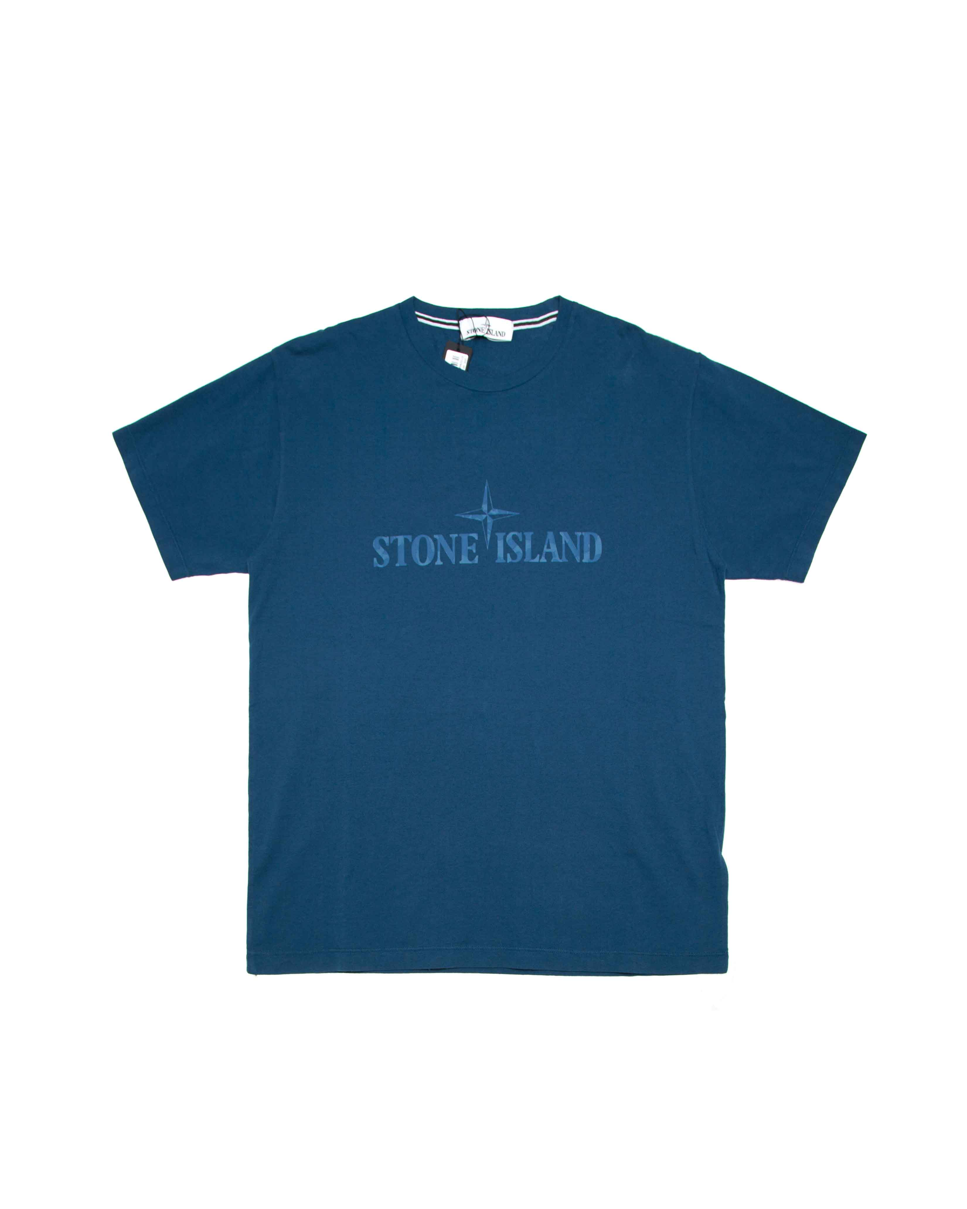 Футболка Stone Island Blue Name Logo Tee