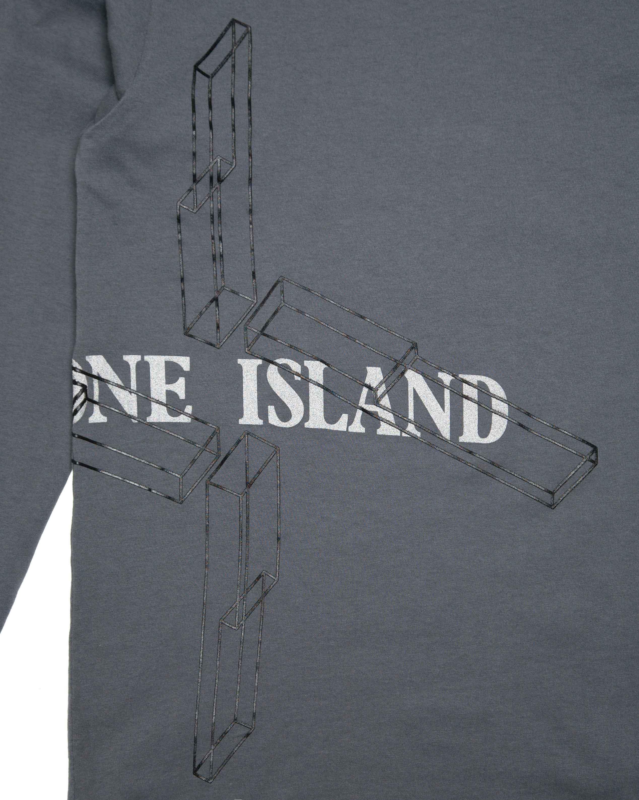 Лонгслив Stone Island Grey Reflective Longsleeve