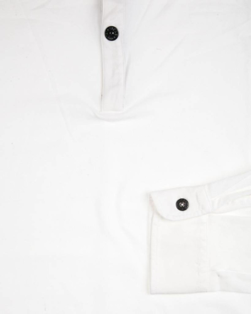 Свитер Stone Island White 2 Buttons Sweat