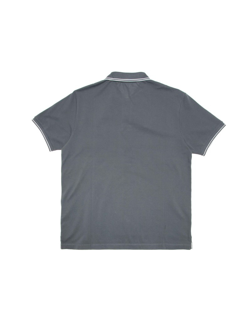Поло Stone Island Patch Program Grey Cotton Polo