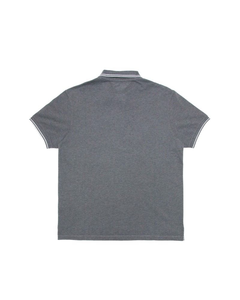 Поло Stone Island Patch Program Dark Grey Cotton Polo