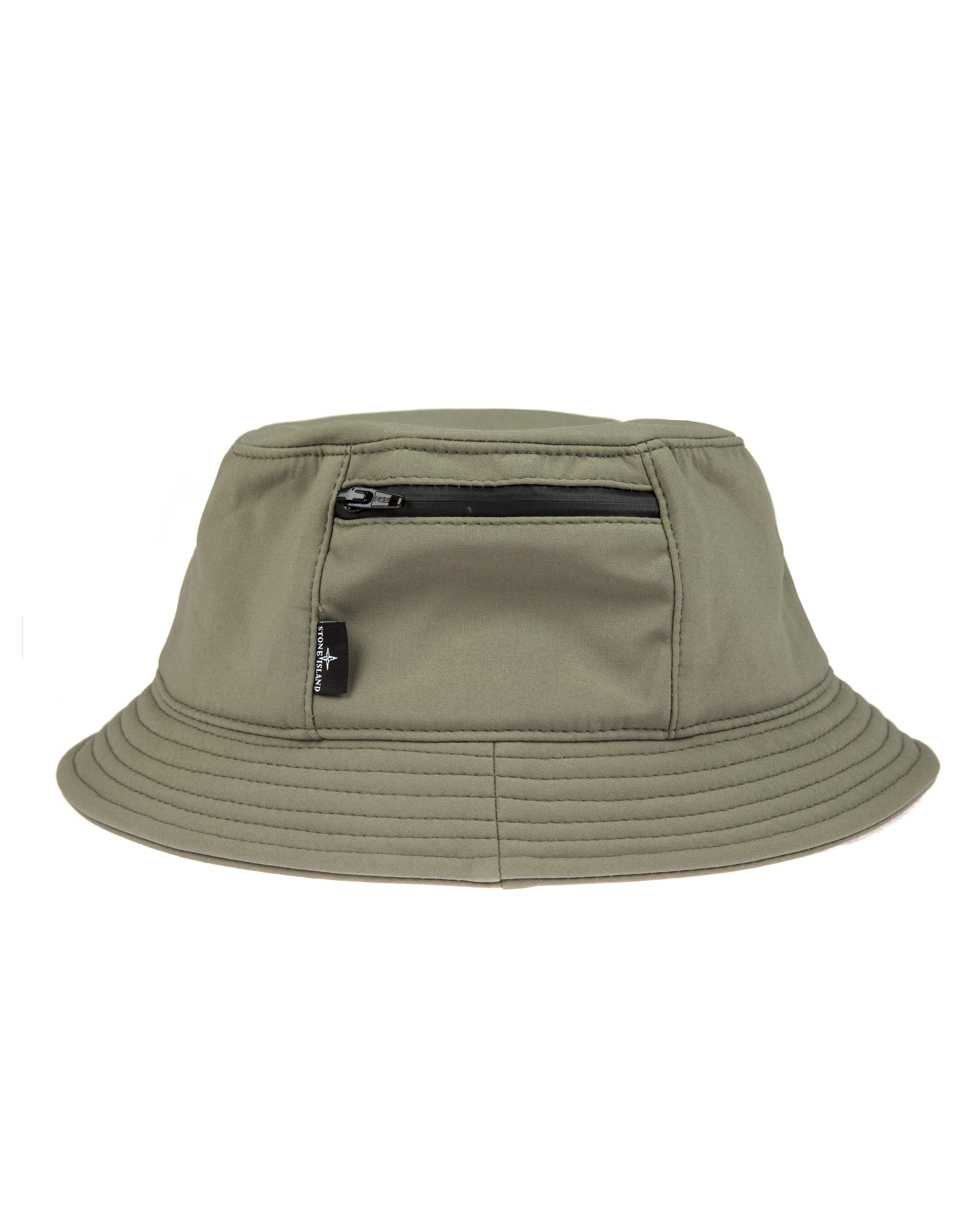 Панама Stone Island Soft Shell-R Grey Bucket Hat