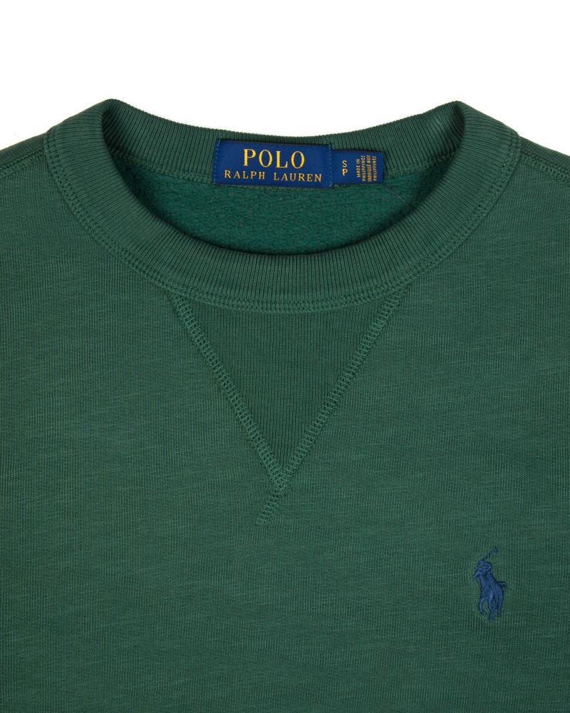 Свитшот Ralph Lauren Green Crew Cotton Sweat