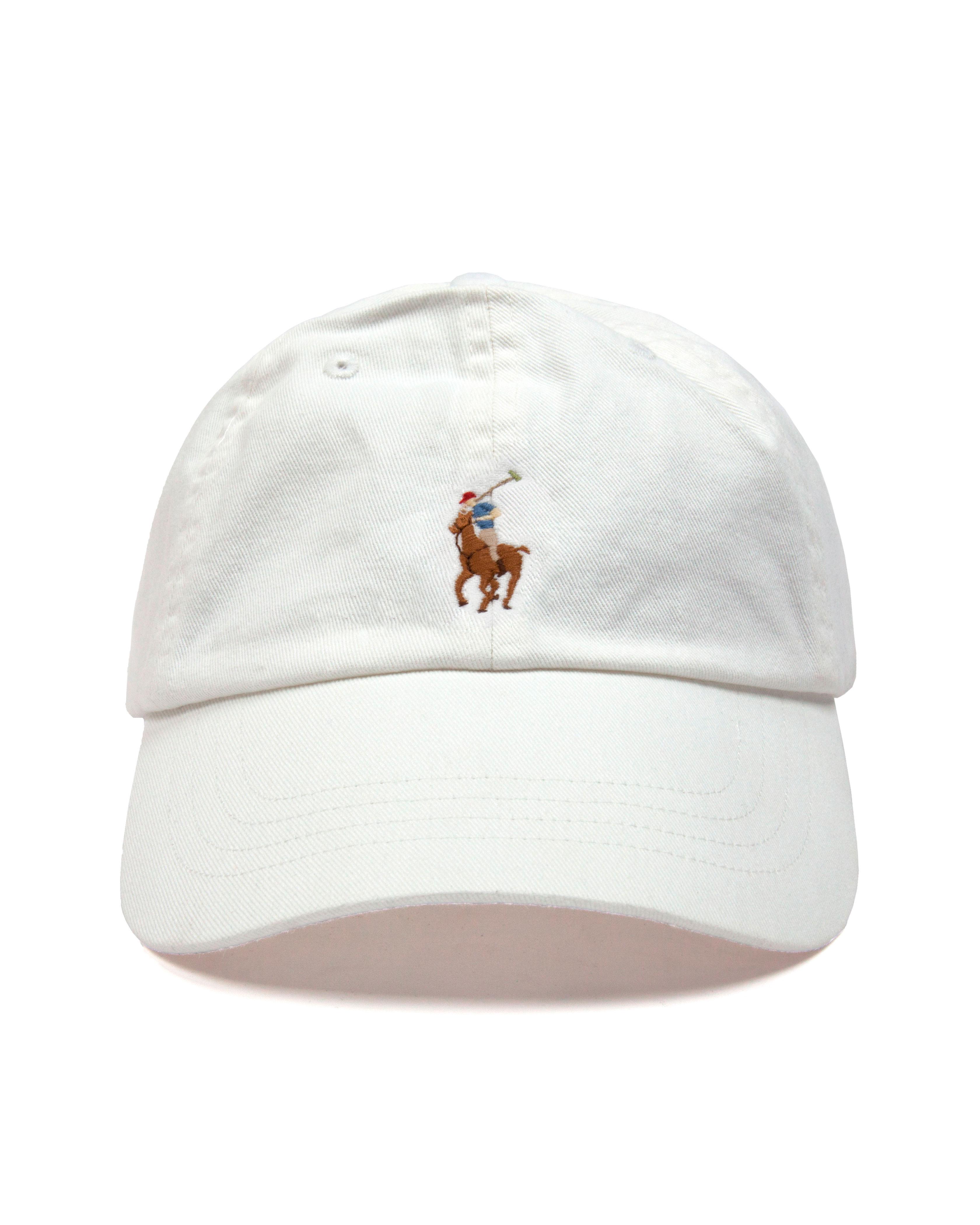 Кепка Ralph Lauren BSR White Classic Baseball Cap