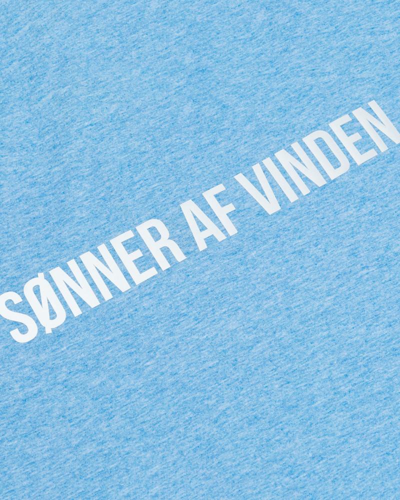 Футболка Sønner Af-Vinden Bar Logo Reflective Light Blue T-shirt
