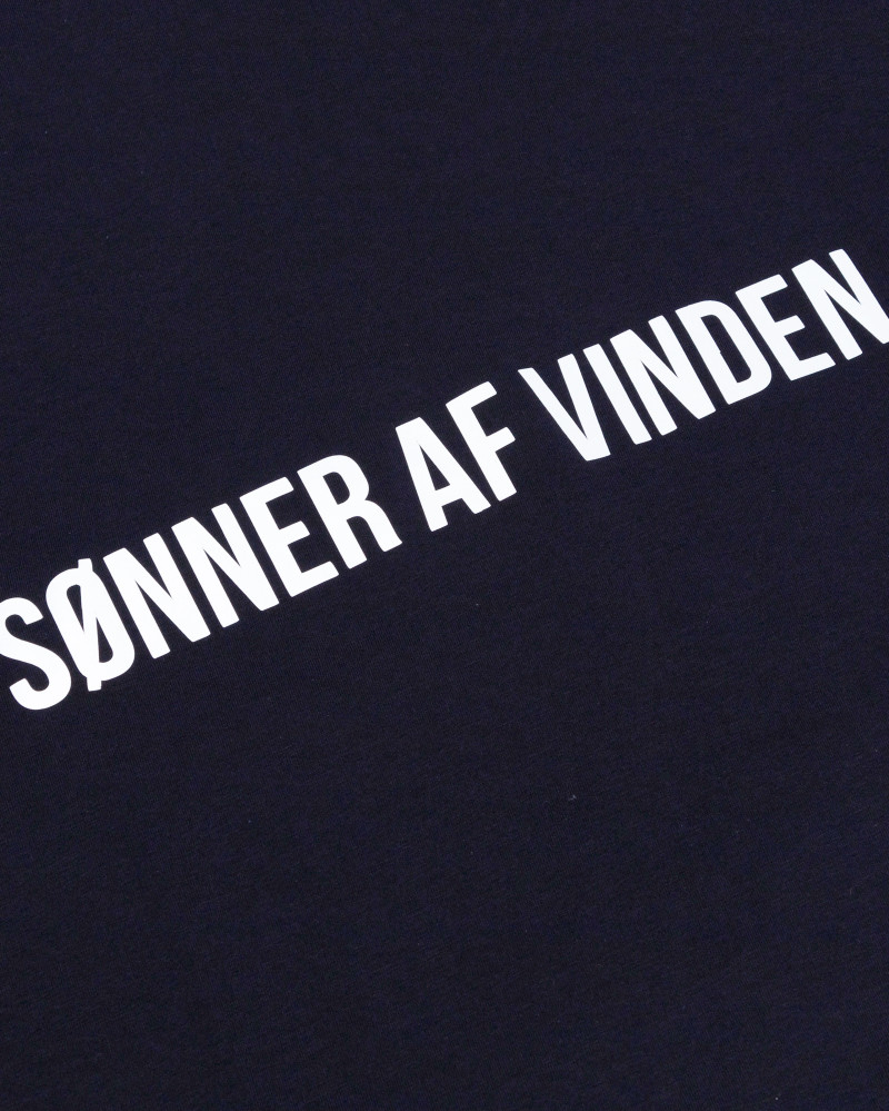 Футболка Sønner Af-Vinden Bar Logo Reflective Navy T-shirt