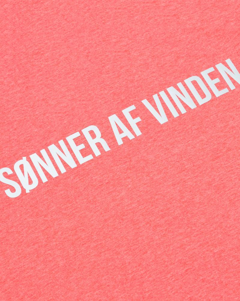 Футболка Sønner Af-Vinden Bar Logo Reflective Pink T-shirt