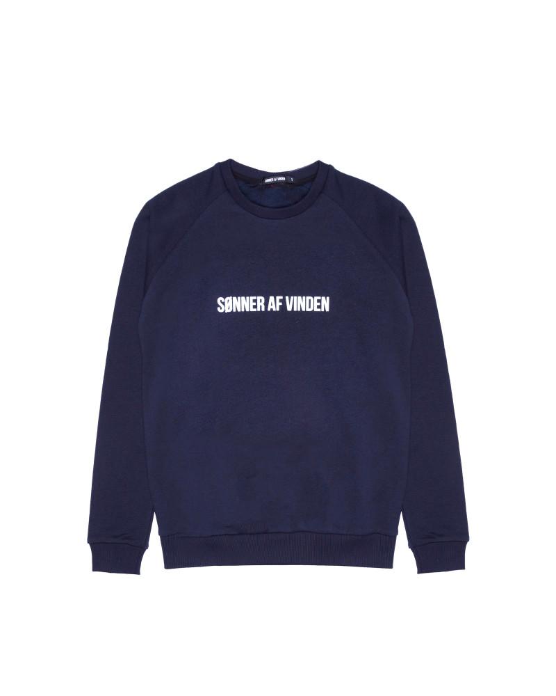 Свитшот Sønner Af-Vinden Bar Logo Reflective Navy Sweatshirt