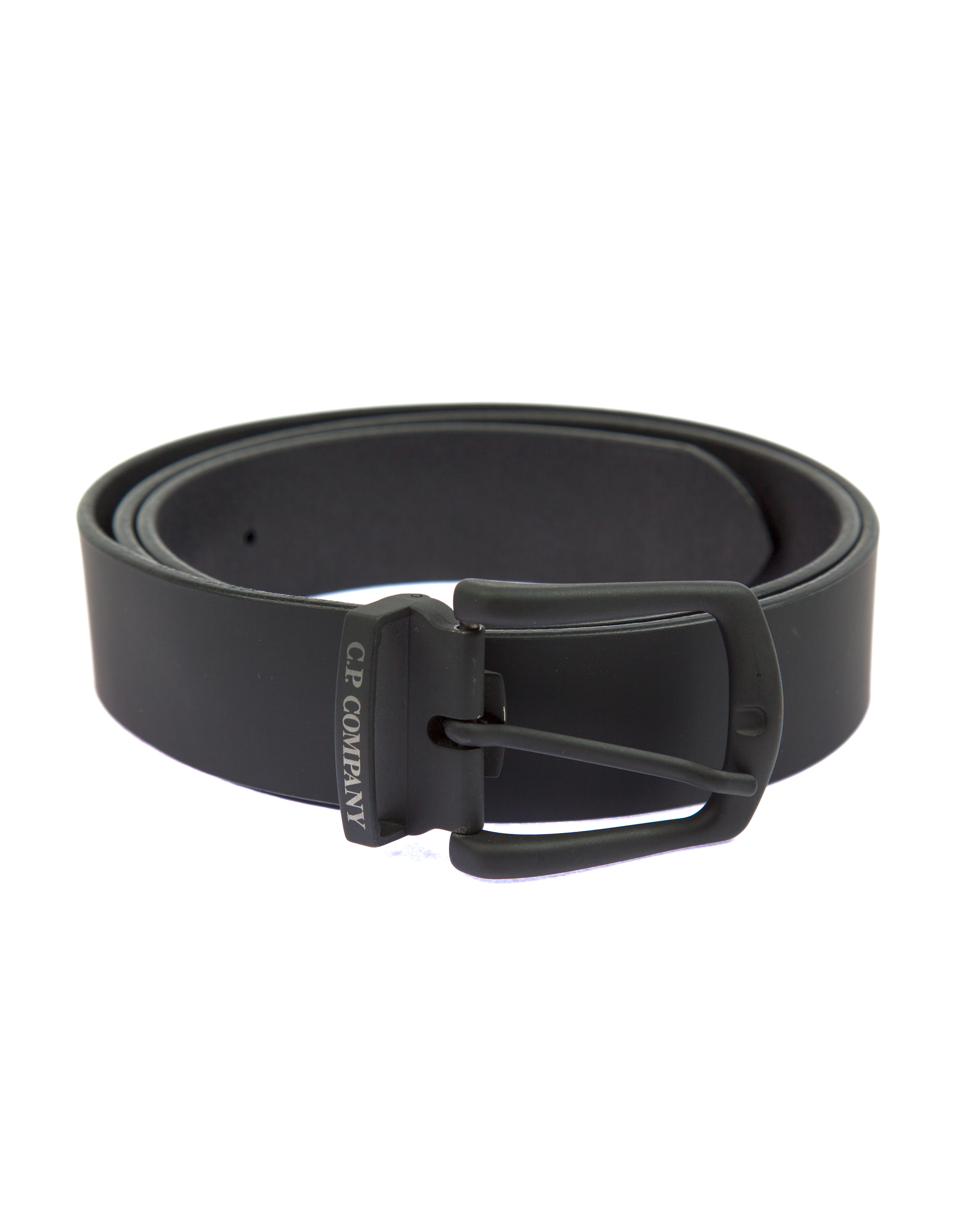 Ремень C.P.Company Rubber Leather Belt Black