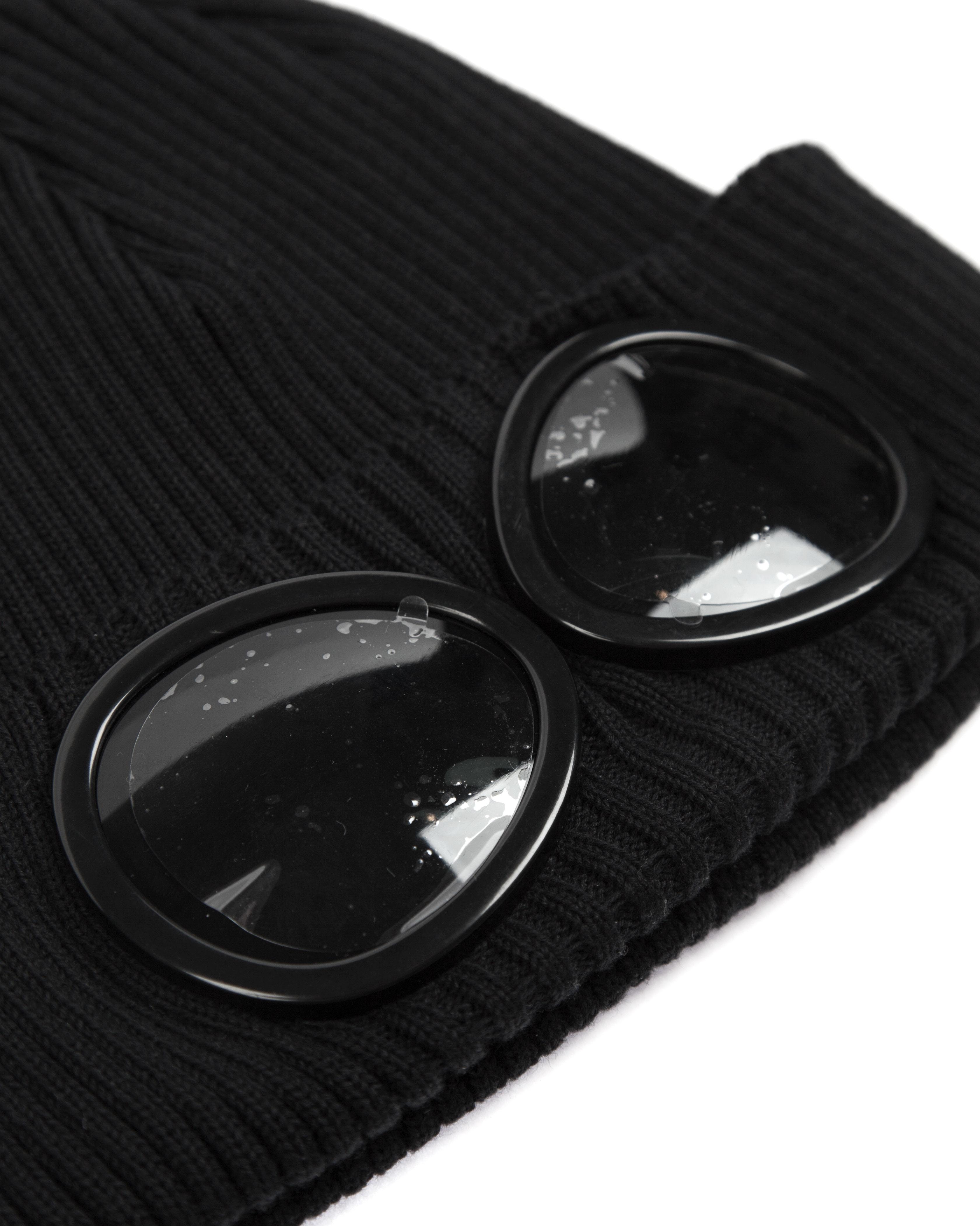 Шапка C.P.Company Goggle Cotton Beanie Hat Black